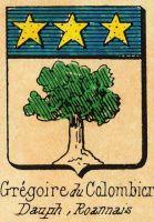 Blason des GREGOIRE du COLOMBIER