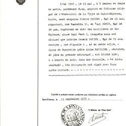 † 1900 FAVIER Antoine Joseph